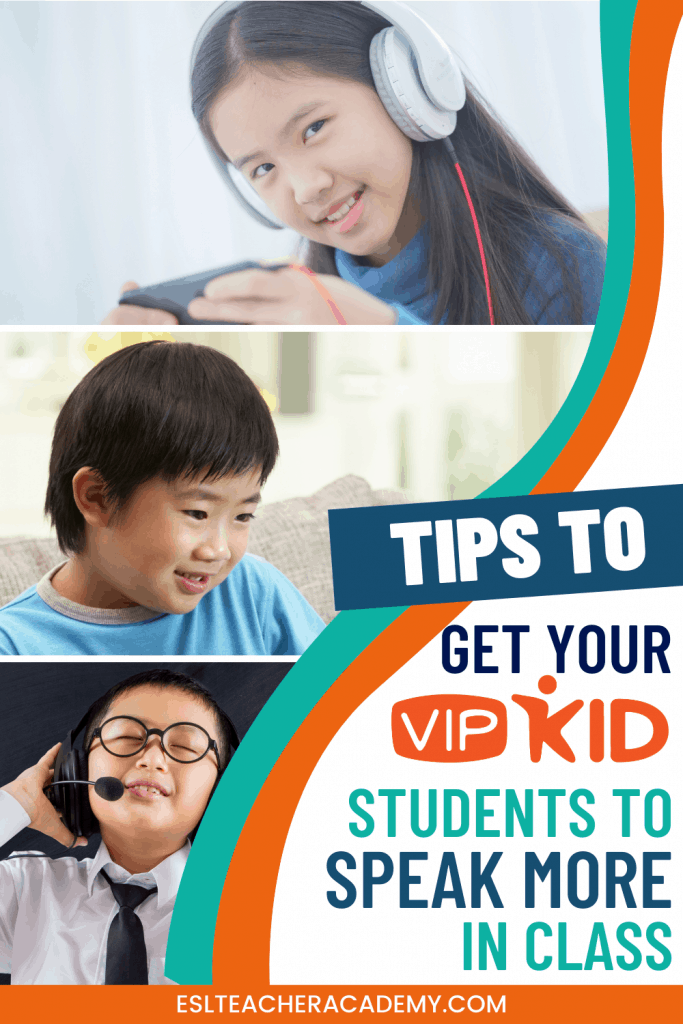 Shy VIPKid student speaking in the online classroom