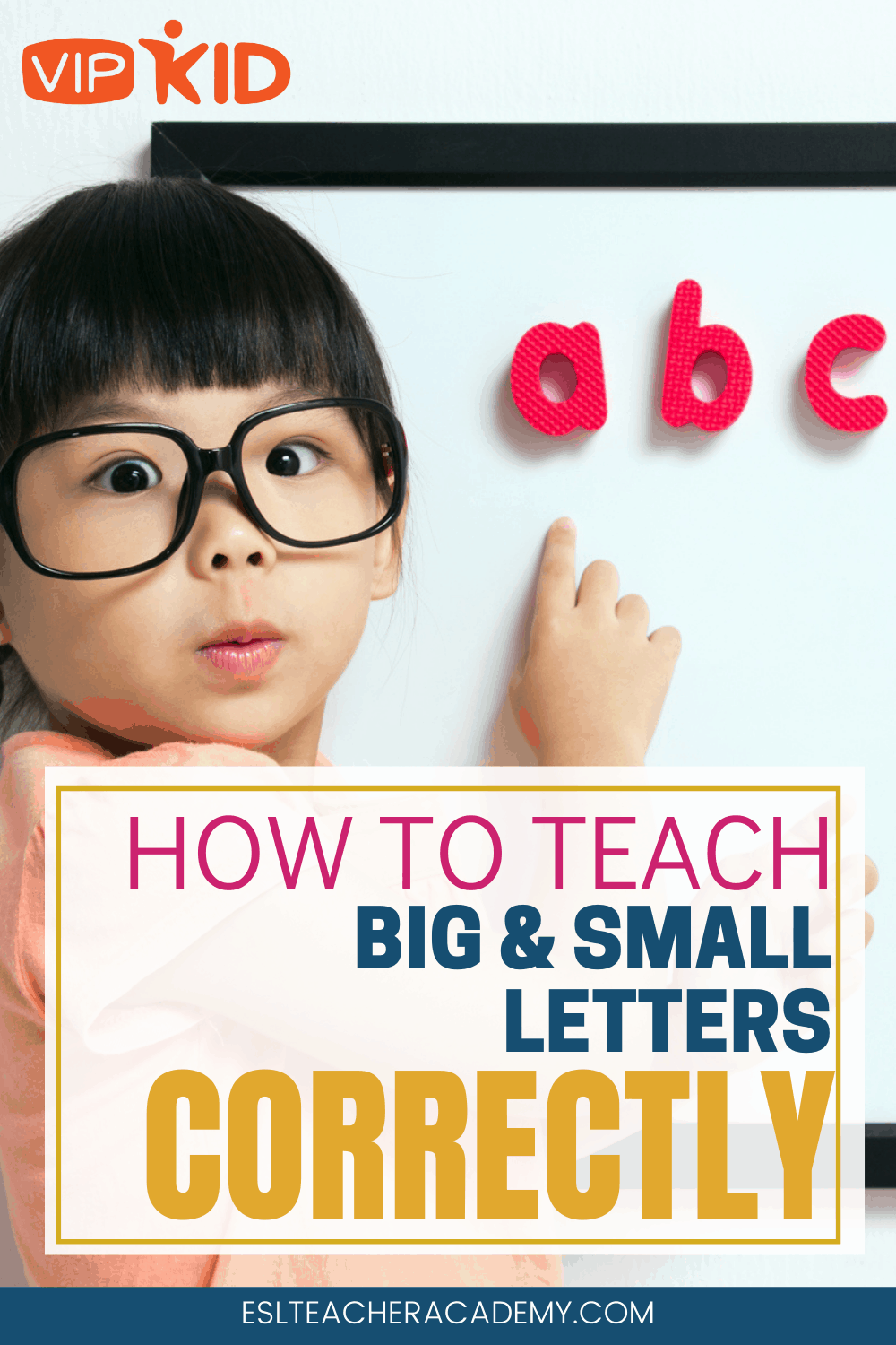 Knowing how to teach big and small letters is critical when you teach PreVIP (Level 1) and Level 2 students in your VIPKid classroom. Find tips and ideas for including TPR, flashcards, and props to showcase upper and lowercase letters in your interview, mock classes, and daily lessons. Also increase your 5 apple feedback with these! My favorite is number 2. #vipkidteaching #vipkid